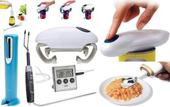 Кухня. Весы, термометры, открывалки компенсируют зрение, нюх,  силу рук