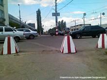 Нижний Новгород - безбарьерная среда искусственные препятствия и барьеры, защита пандусов от автомобилей